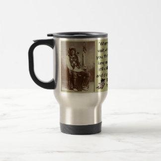 Ponca Chief White Eagle travel mug