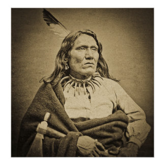 Ponca Chief Yankton Dakota Territory 1870s Poster