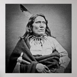 Ponca Chief  Yankton  Dakota Territory circa 1870s Poster