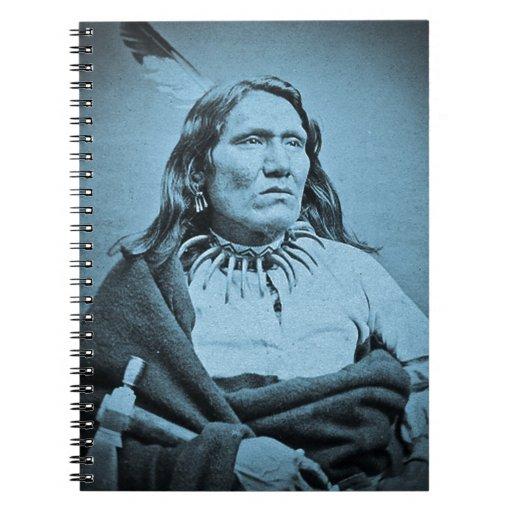 Ponca Chief Yankton  Dakota Territory Cyan Spiral Note Book