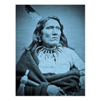 Ponca Chief Yankton  Dakota Territory Cyan Postcard