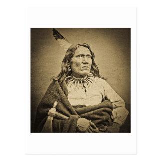 Ponca Chieff Yankton  Dakota Territory Sepia Postcard