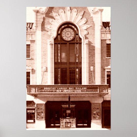 Ponca City Oklahoma Poncan Theatre 1938 Poster