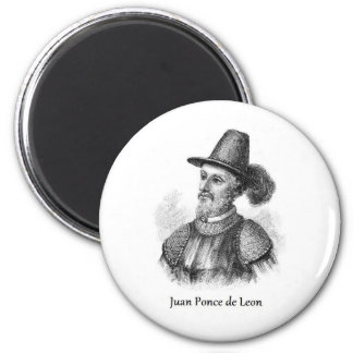Ponce de Leon and the Fountain of Youth Refrigerator Magnet