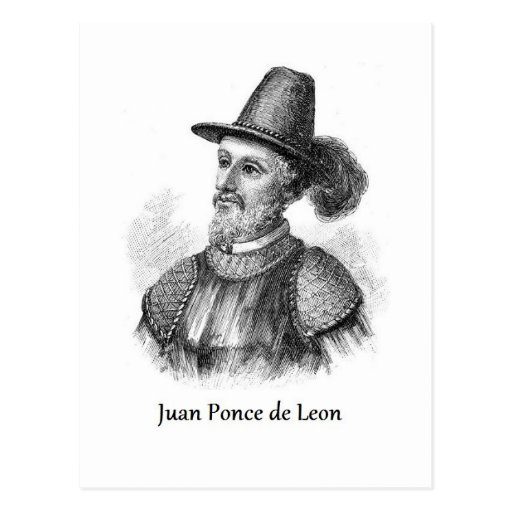 Ponce de Leon and the Fountain of Youth Postcard