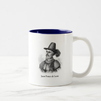 Ponce de Leon and the Fountain of Youth Two-Tone Coffee Mug