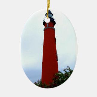 Ponce de Leon Inlet Lighthouse Ceramic Ornament