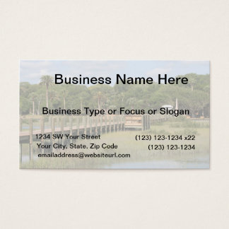 Ponce de Leon park in Florida dock Business Card