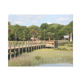 Ponce de Leon park in Florida dock Gallery Wrap Canvas