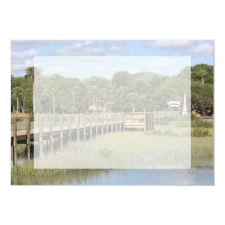 Ponce de Leon park in Florida dock Card