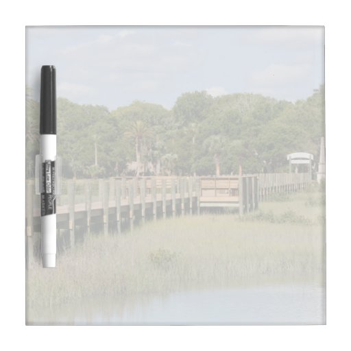 Ponce de Leon park in Florida dock Dry Erase Whiteboard