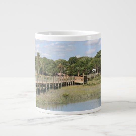 Ponce de Leon park in Florida dock Giant Coffee Mug