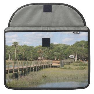 Ponce de Leon park in Florida dock MacBook Pro Sleeve