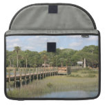 Ponce de Leon park in Florida dock Sleeve For MacBooks