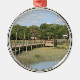 Ponce de Leon park in Florida dock Christmas Tree Ornament