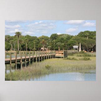 Ponce de Leon park in Florida dock Poster