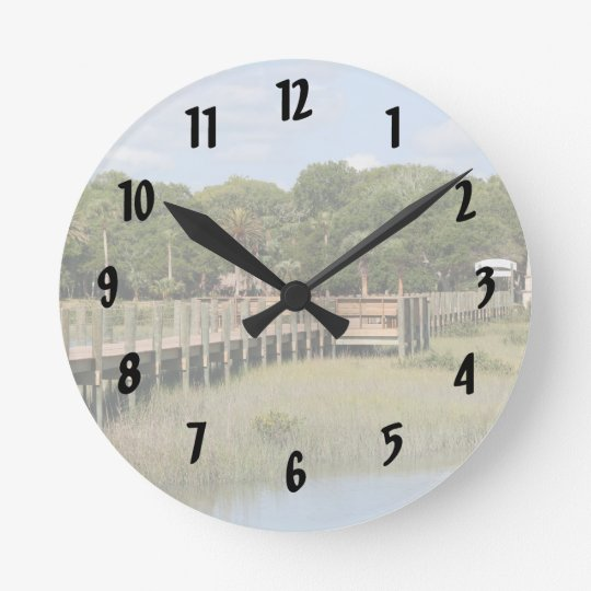 Ponce de Leon park in Florida dock Round Clock