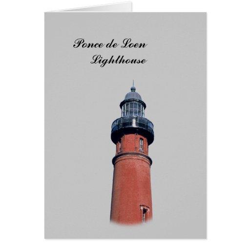 Ponce de Loen Lighthouse Greeting Cards