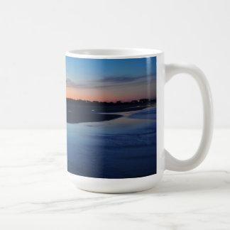 Ponce Inlet Beach Jetty 3 Birds Blue Mug