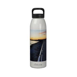 Ponce Inlet Beach Sunset Jetty FL Water Bottle