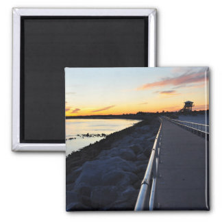 Ponce Inlet Beach Sunset Jetty Florida Magnet