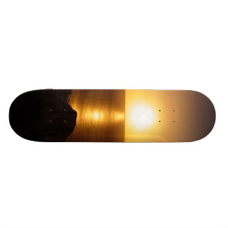 Ponce Inlet Jetty FL Ocean Moonrise Skateboard