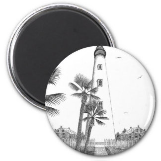 Ponce Inlet Lighthouse 2 Inch Round Magnet