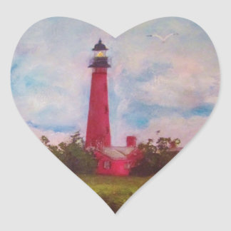 Ponce Inlet Lighthouse Heart Sticker