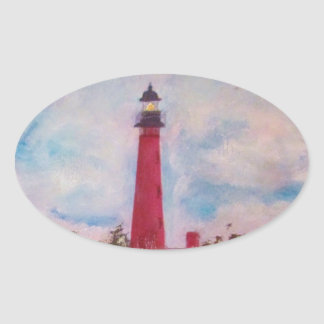 Ponce Inlet Lighthouse Oval Sticker