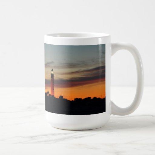 Ponce Inlet Lighthouse Sherbet Orange Sky FL Mug