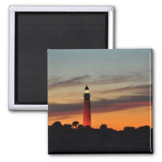 Ponce Inlet Lighthouse Sherbet Orange Sky Magnet