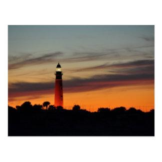 Ponce Inlet Lighthouse Sherbet Orange Sky Postcard