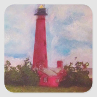 Ponce Inlet Lighthouse Square Sticker