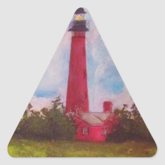 Ponce Inlet Lighthouse Triangle Sticker