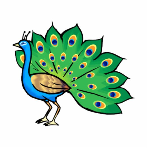 Ponce Peacock Cutout