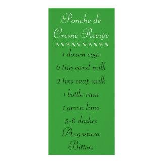 Ponche de Creme Recipe Rack Card