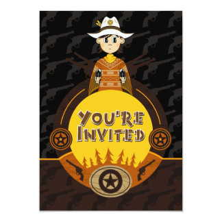 Poncho Cowboy Party Invite