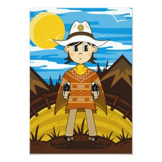 Poncho Cowboy RSVP Card