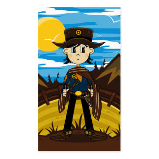Poncho Cowboy Sheriff Bookmark Business Card Templates