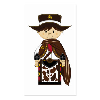 Poncho Cowboy Sheriff Bookmark Business Cards