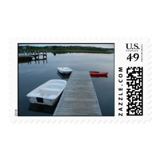Pond and Boats Postage Stamp