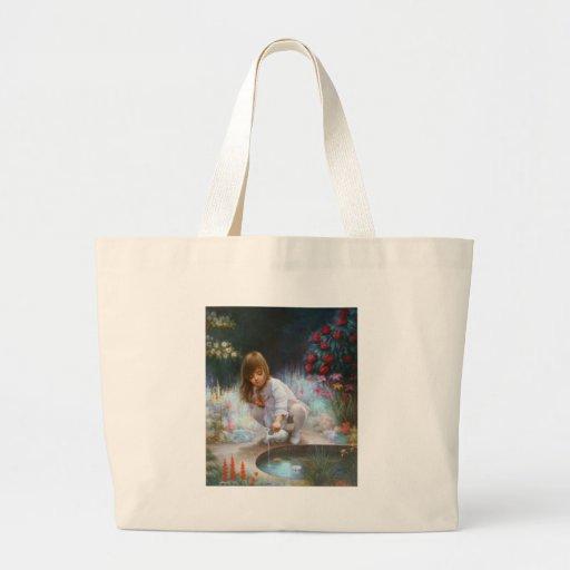 Pond and girls bag
