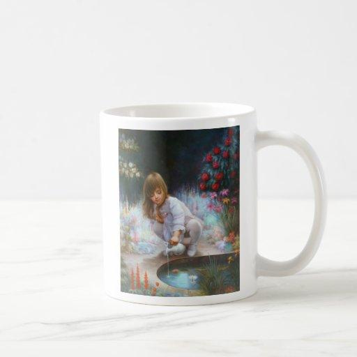 Pond and girls classic white coffee mug
