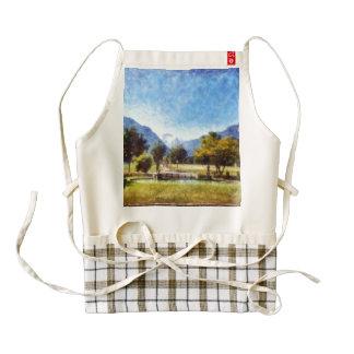 Pond and landscape zazzle HEART apron