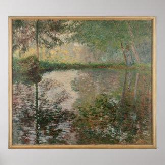 Pond at Montgeron Print