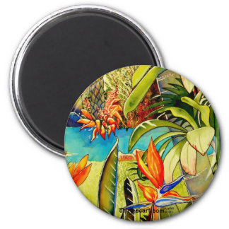 Pond at Oahu Pineapple Plantation 2 Inch Round Magnet