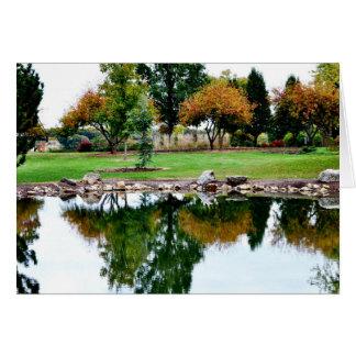 Pond at Shawnee Lake, Topeka KS Card