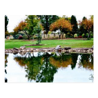 Pond at Shawnee Lake, Topeka KS Postcard