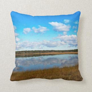 Pond at South Cape Beach Cape Cod Throw Pillow