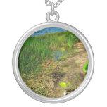Pond bank with pond plants pendant